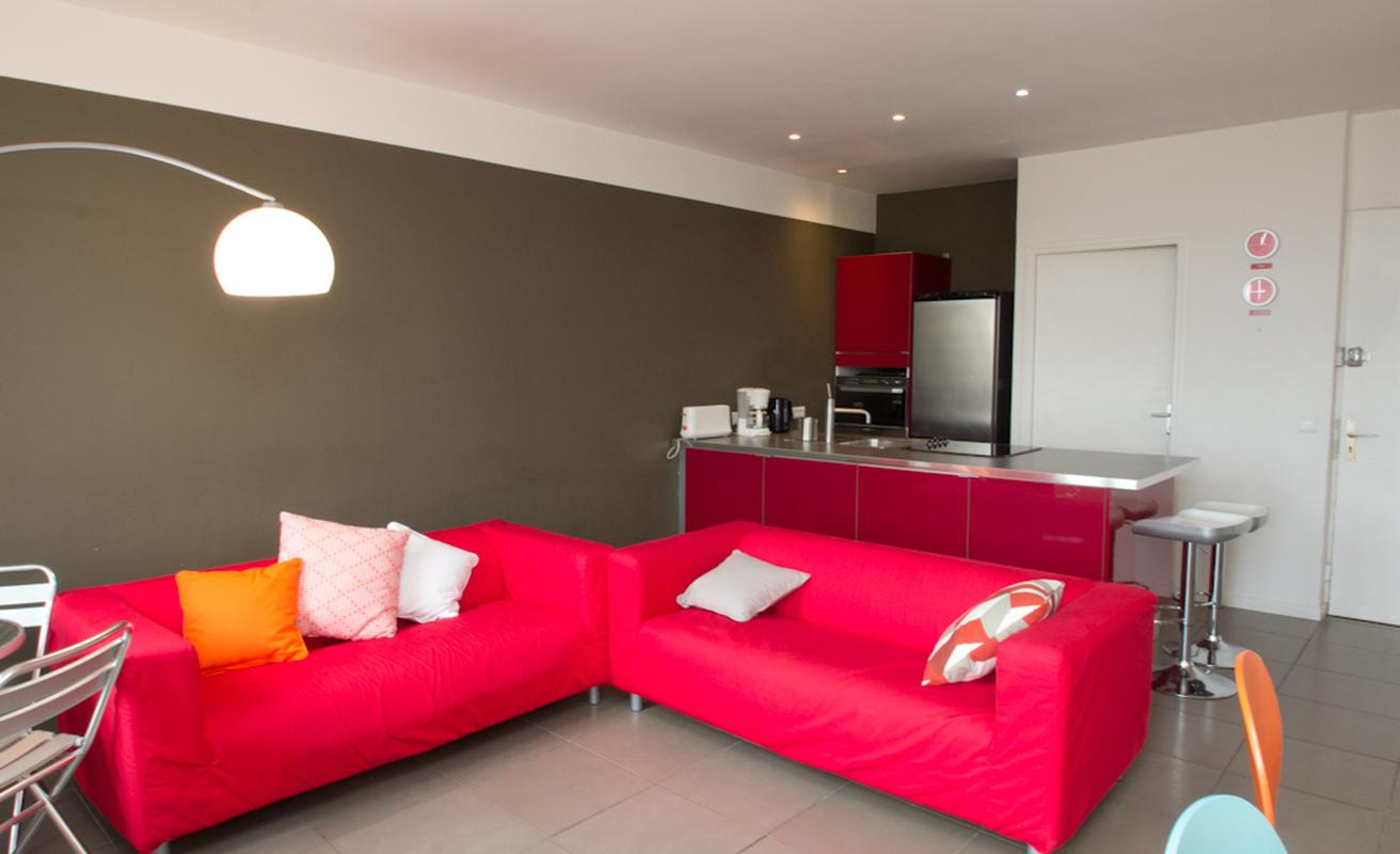 Colorful two or three bedroom apartment with modern design